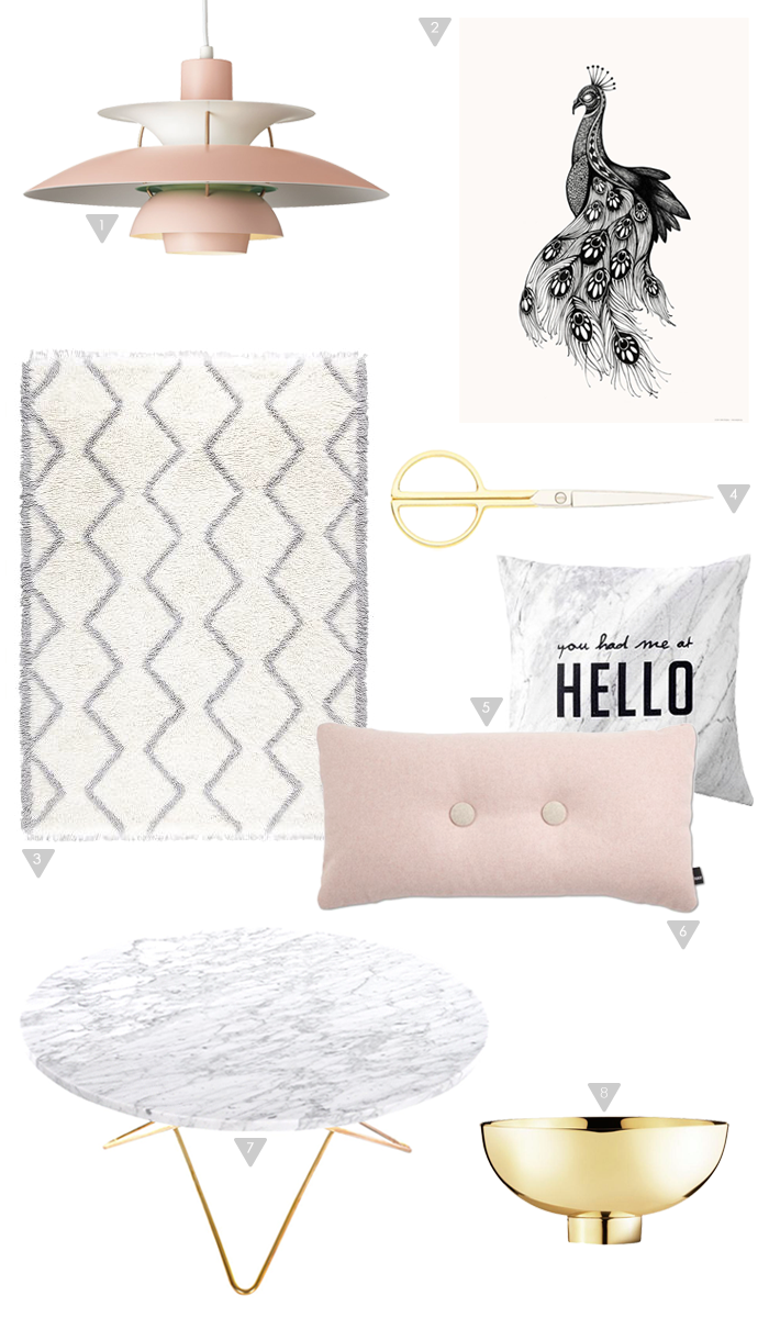 Friday Favorites, soft pink, gold, marble, stylizimo shop