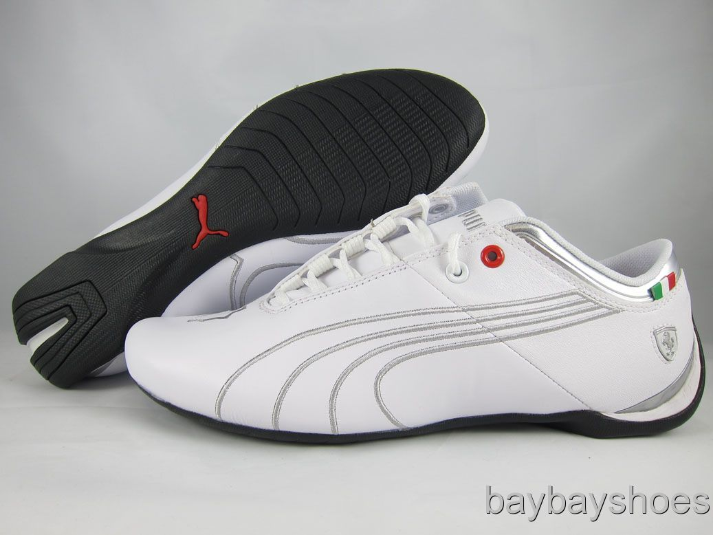 0708005b7fa904 Puma Future Cat M1 Big Sf White Puma Silver Gray Chrome Ferrari Mens ...