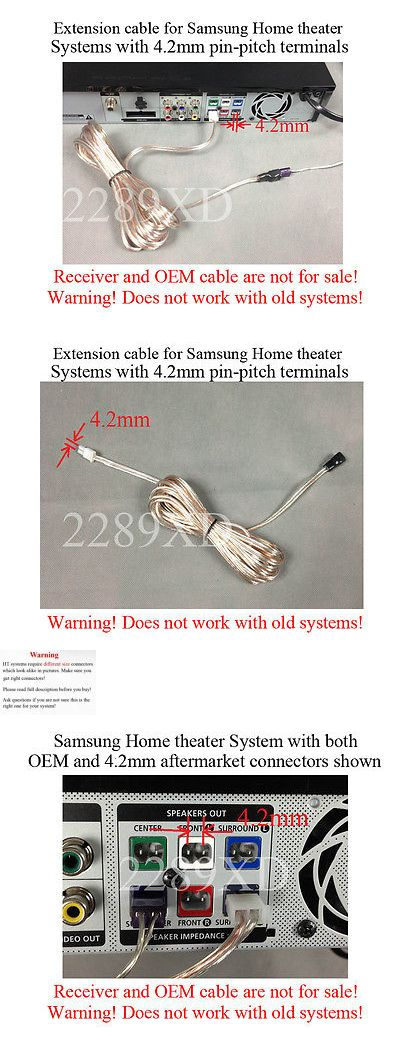 12\' speaker extension cable/wire/cord made for Samsung Home Theater ...