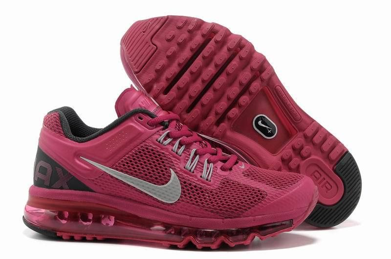 Nike Air Max 2013 For Sale Womens Running Shoes Wine Red Silver