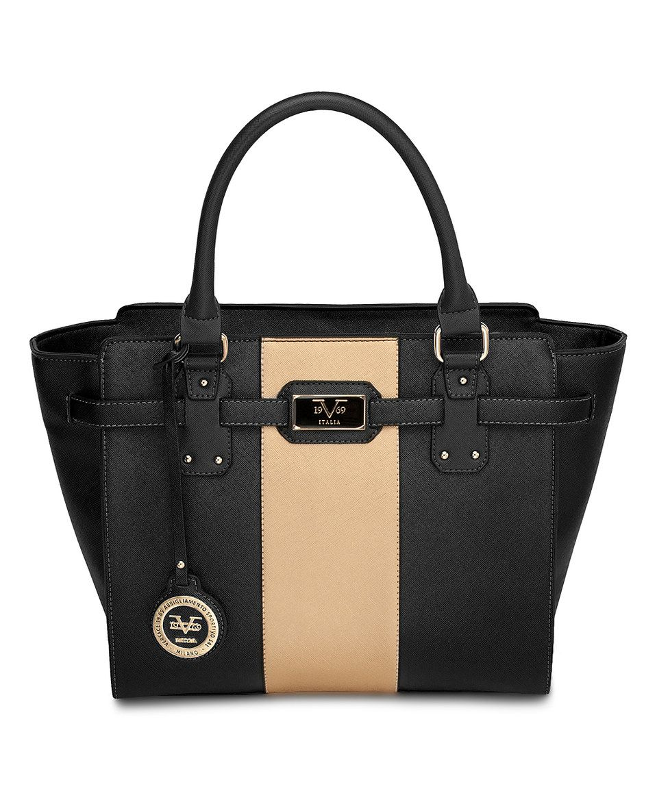 Love this Versace 19V69 Black   Gold Kerrington Satchel by Versace 19V69 on   zulily!  zulilyfinds 1c0b5a83a4f1b