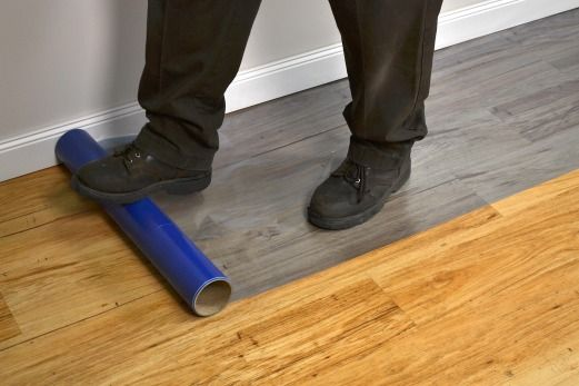 Applying Floor Protection Tape - Applying Floor Protection Tape TapeManBlue's Products