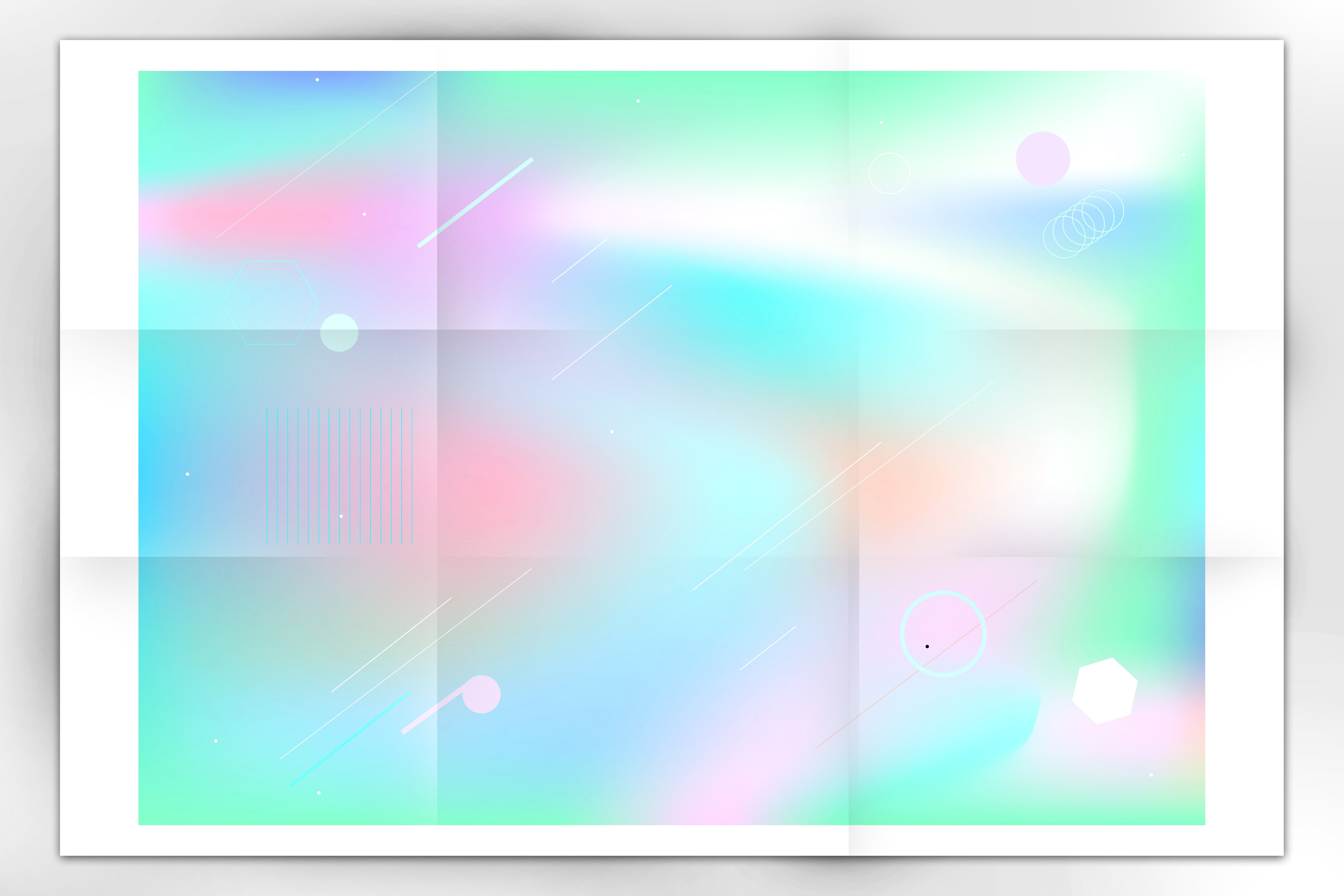 Holographic backgrounds + patterns Holographic