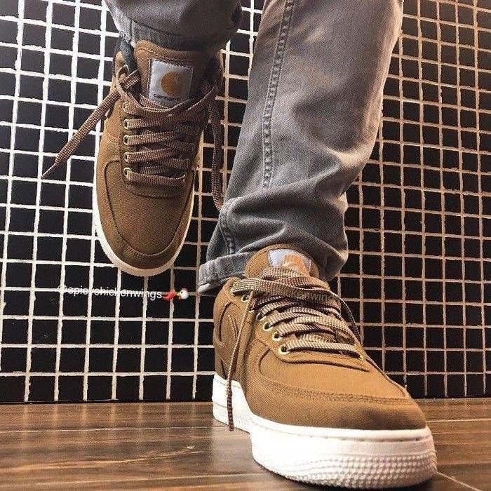 half off 64174 789e2 2018 Carhartt WIP x Nike AF1 Low Ale Brown ON FEET