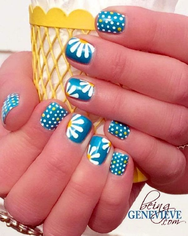 Cute Flower Nail Designs (2) - 101 Cute Flower Nail Designs That're Too Attractive To Handle Nail