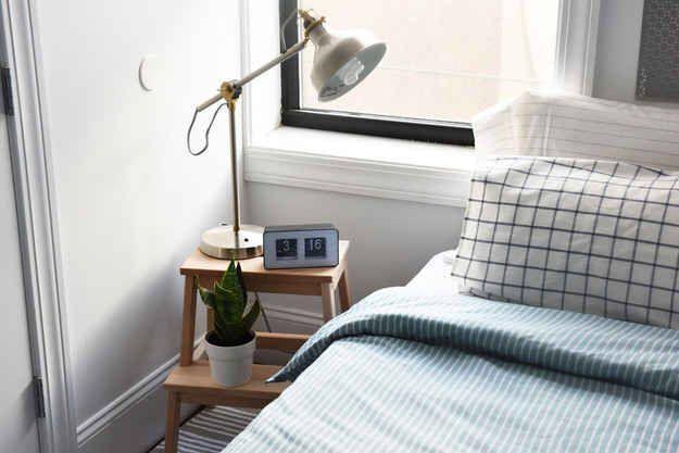 Makeshift Nightstand Ikea Stool Hack Home Bachelor