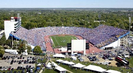 Pin By Emily Folks On Football Stadiums Visited Kansas Football University Of Kansas Lawrence Kansas
