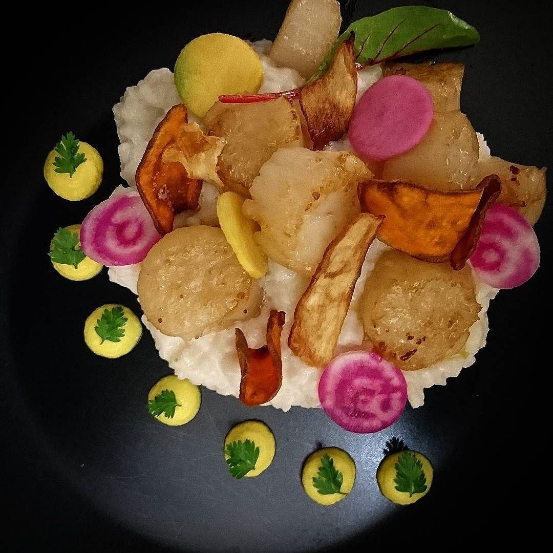 Risotto et noix de Saint Jacques rôties...#menubistronomique #risotto #noixdesaintjacques #scalop #Food #Foodista #PornFood #Cuisine #Yummy #Cooking