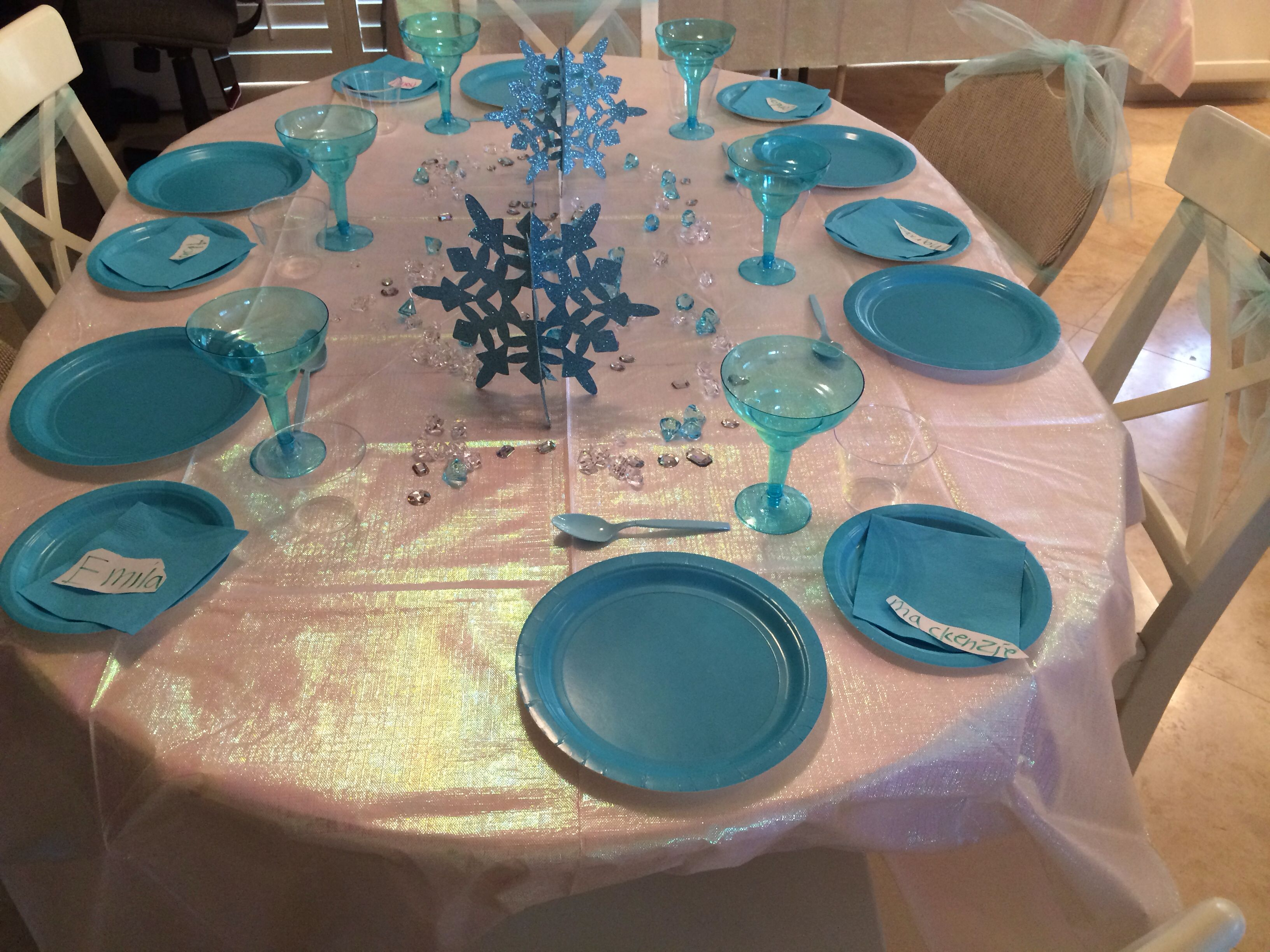 Frozen table decoration party invitations ideas