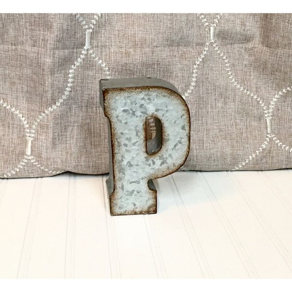 Small Decorative Metal Letters Metal Lettersmetal Letterletter P7 Inch Letterwall Letter