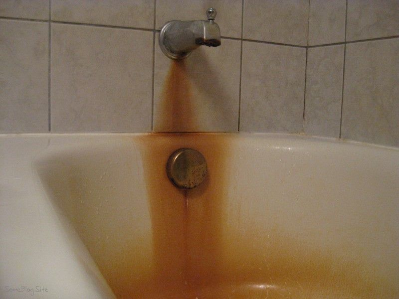 How To Clean Ceramic Bathtub Stains How Bad Our Iron Was