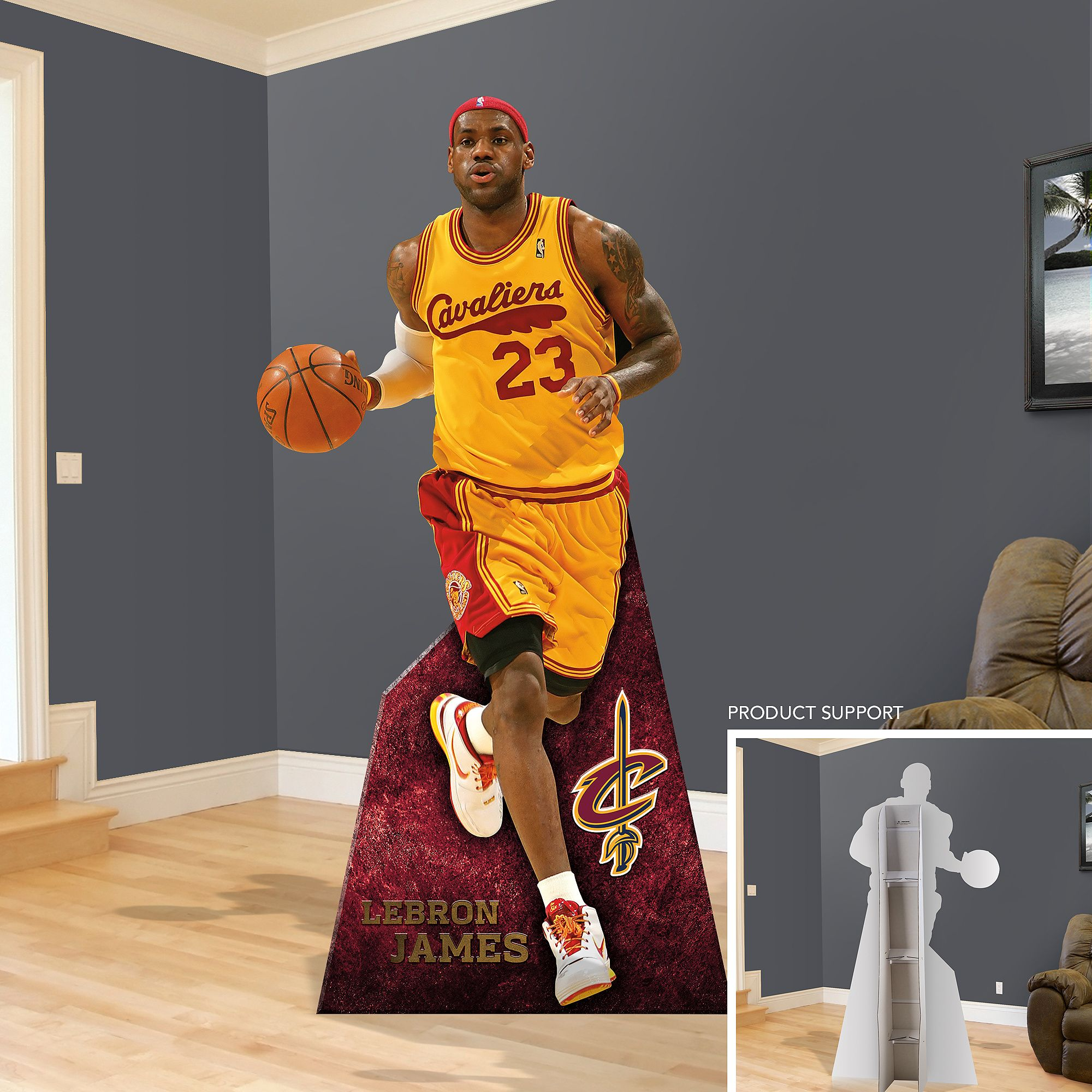 the best attitude 8a115 b541f LeBron James Throwback Stand Out   Cleveland Cavaliers Man Cave   Cleveland  Cavaliers Party