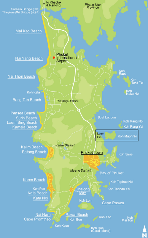 **Koh Maphrao (Coconut Island) small, isolated island off ...