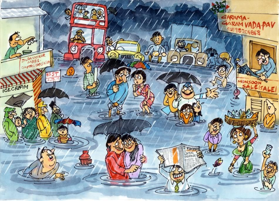 A Rainy Day In India: One Of The Winning Cartoons In A