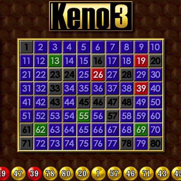 Keno 3 Keno Online Casino Games Casino Games