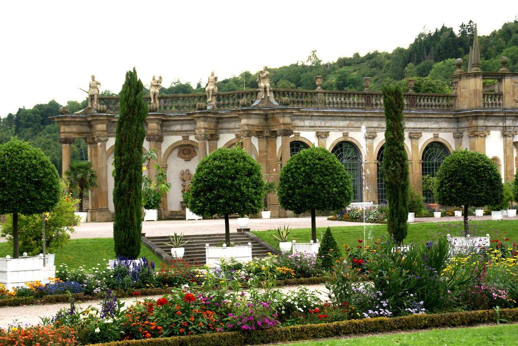 Schloss Weikersheim, Barockgarten und Orangerie (baroque garden and orangery)