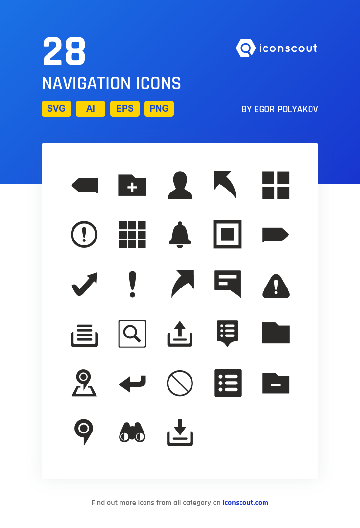 Navigation Icon Pack 28 Solid Icons Icon Pack Icon Font Icon