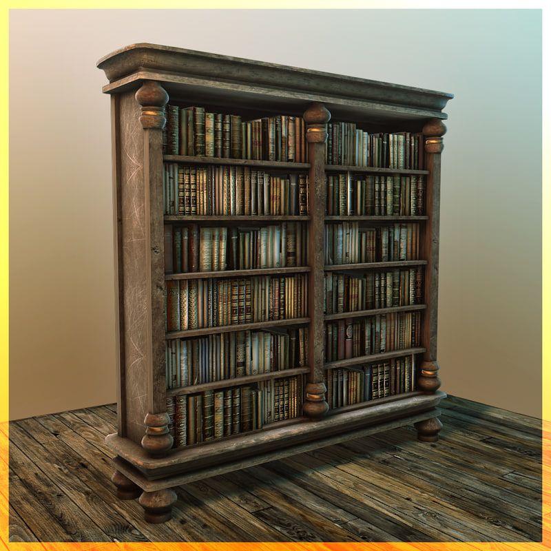 Image Result For Fantasy Bookshelf 3d Model