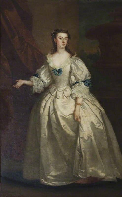 """The Honourable Mary Howard, Mrs George Venables Vernon"", by John Vanderbank, 1737; Sudbury Hall, Derbyshire, England."