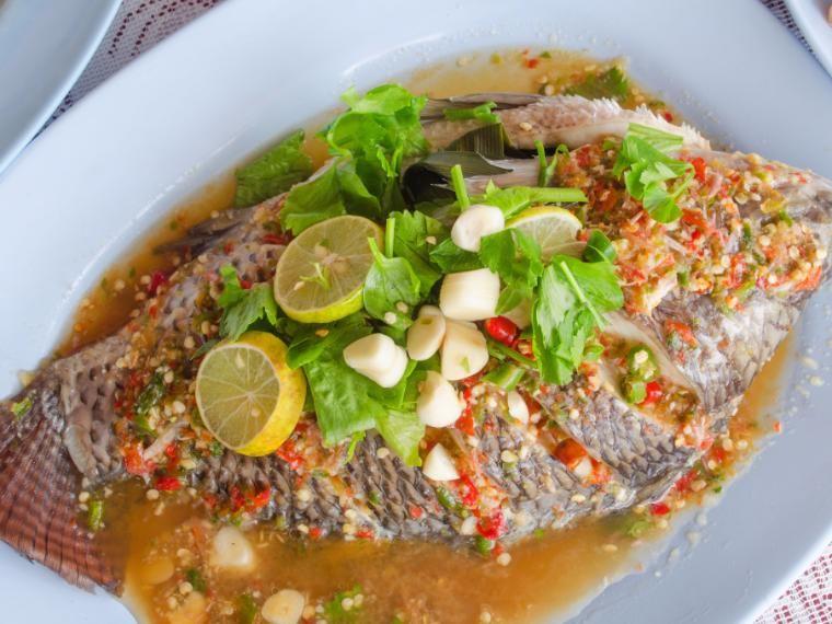 ปลาน ลน งมะนาวร อน ส ตรอาหาร ส ตรอาหารทะเล อาหาร อาหารคล น