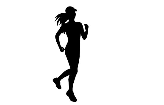 Women Running Silhouette Vector Study Running