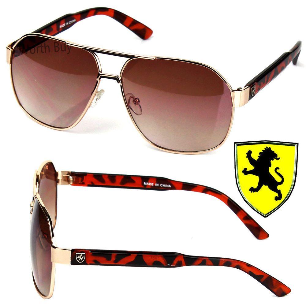 New KHAN Designer Mens Fashion Aviator Sunglasses Driving Style UV 400 Shades
