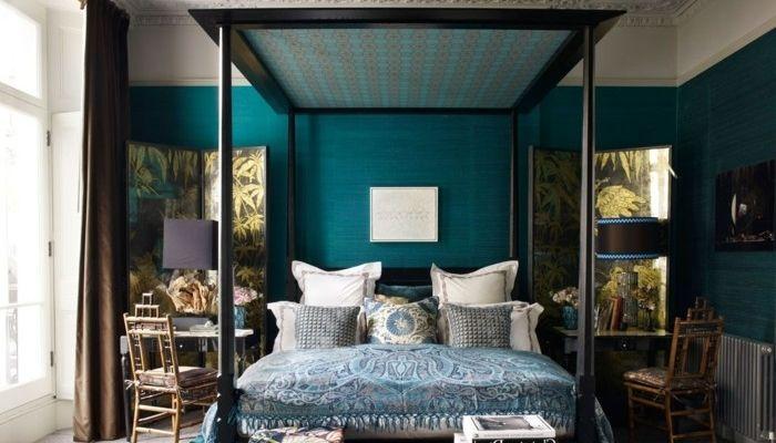 Antoinette Ameska Mood Bleu Canard Decoration House