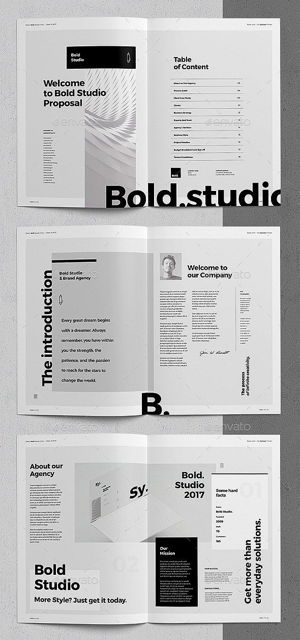 30 indesign business proposal templates 会社概要 l pinterest