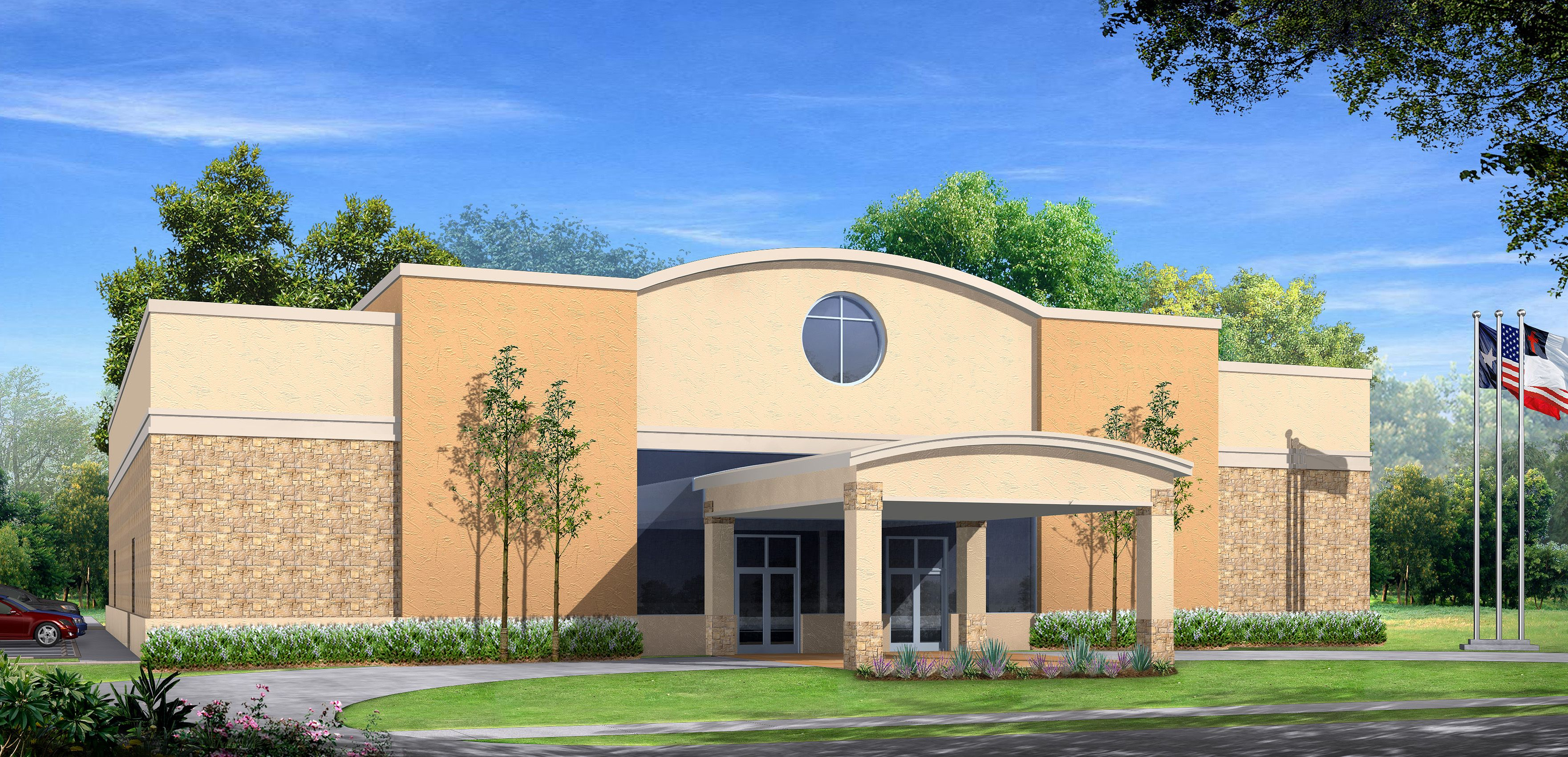 Church building designs alvin missionary baptist church for New building design