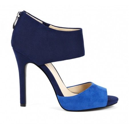 Shades of blue colorblock sandals