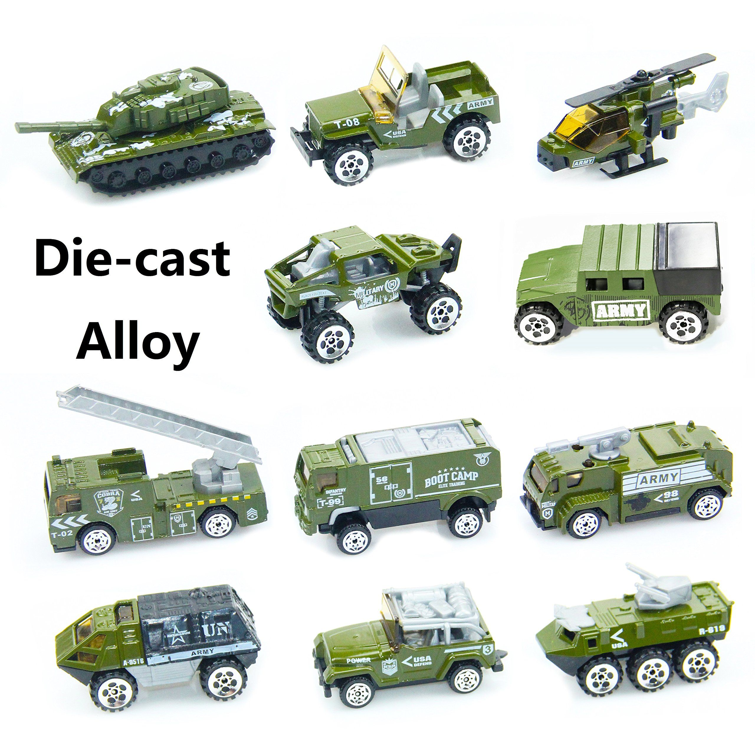 Diecast Military Vehicles Assorted Alloy Military Metal Army