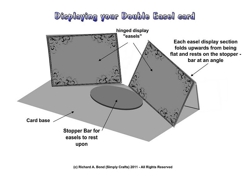 03 Double Easel Card Display Instructions Cards Fun Fold Cards Easel Cards