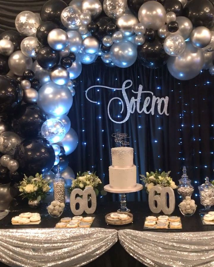 Balloon Arch Video Silver Party Decorations 50th Birthday Party Decorations 60th Birthday Party Decorations