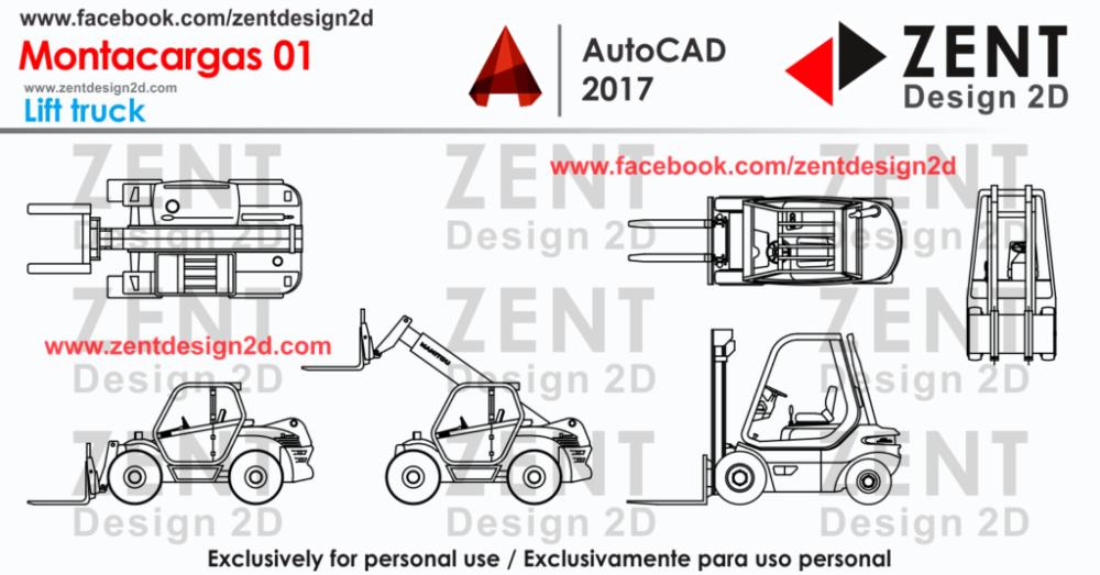 Montacargas 01 Autocad Bloques Autocad Informatica