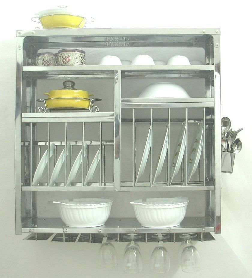 Kitchen Cabinets Plate Rack: Wall Mount Dish Drying Rack, $185 …