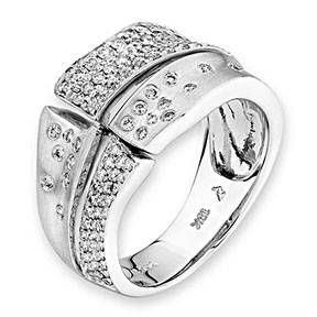 18K White Gold Diamond Ring Hong Kong J10072R IAD Jewellery