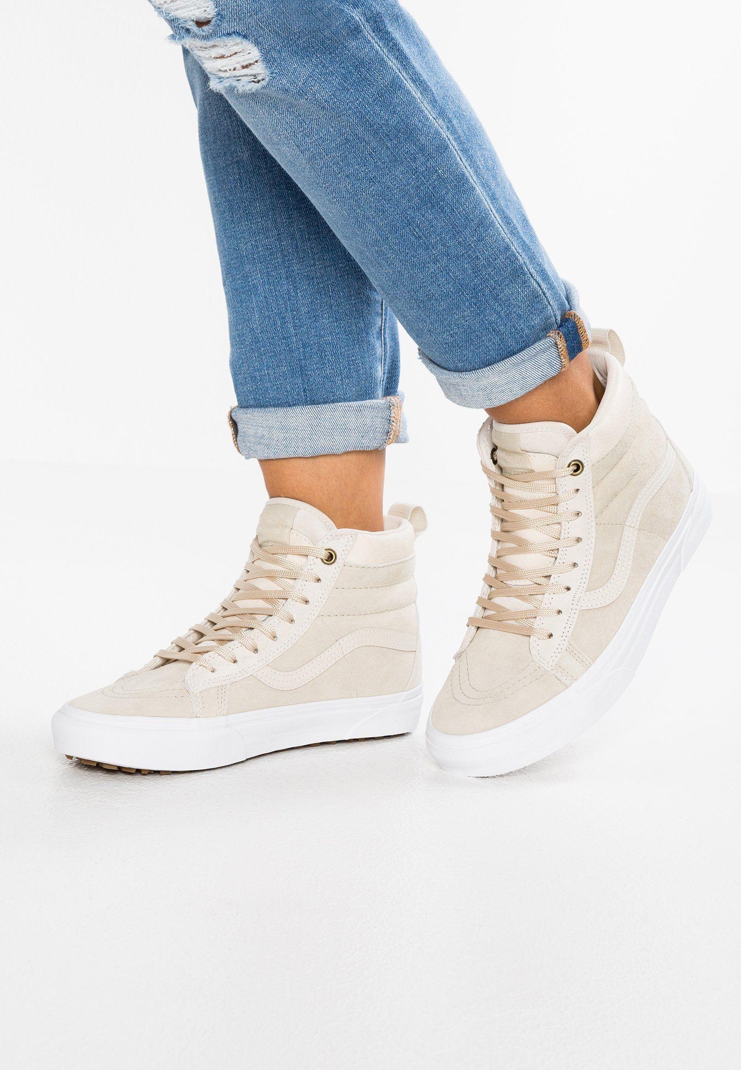 Vans Sk8 Hi Mte High Top Trainers Cement Birch Women Sale Va211s03v B11 Women Shoes Sale Vans Sk8 High Tops