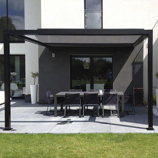 pergola bois toile coulissante top pergola gennius a en aluminium avec toile rtractable with. Black Bedroom Furniture Sets. Home Design Ideas