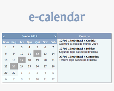 ECalendar  Jquery Plugin For Creating Event Calendar Jquery