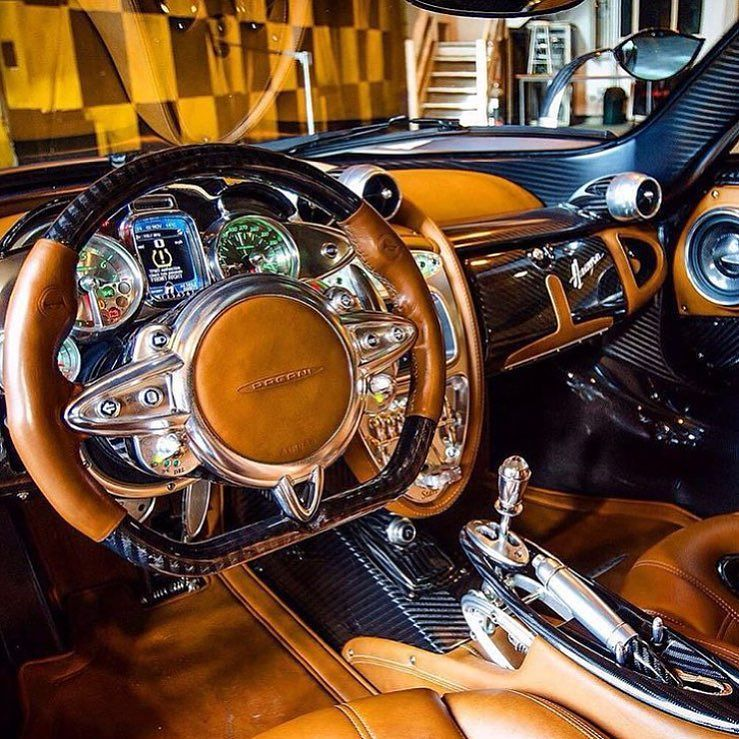 Insane interior Pagani Huayra Via worldwide_wow by