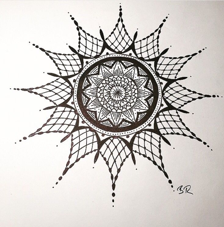 Pin by becky rebello on 100 Mandalas Challenge   Compass ...