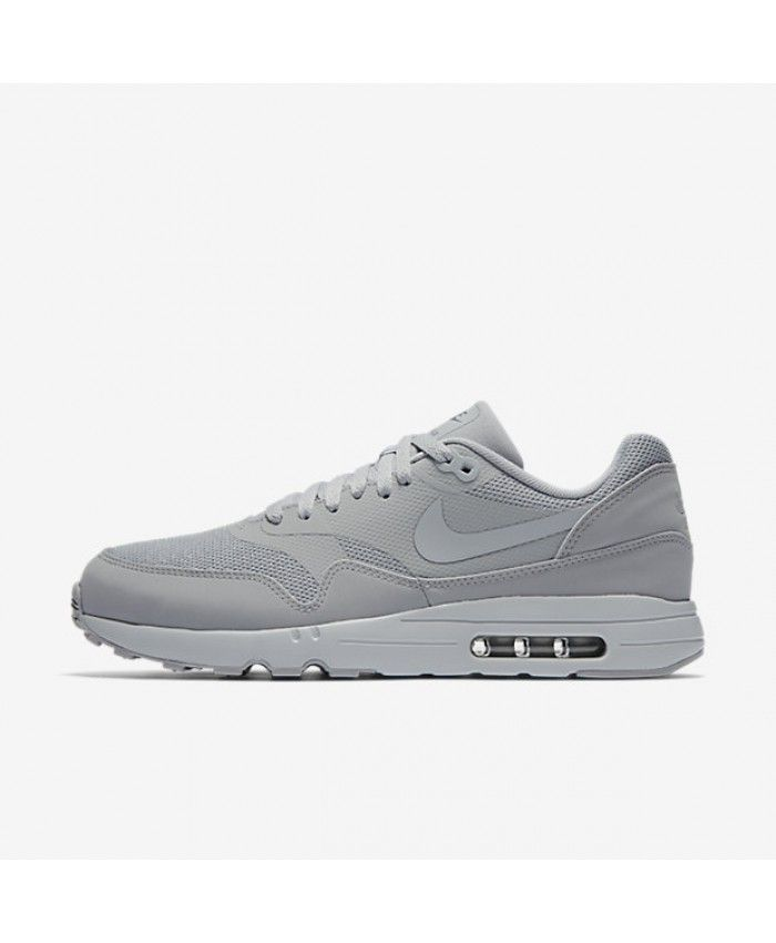 sports shoes eea31 5018f Nike Air Max 1 Mens Ultra 2 Essential Wolf Grey Pure Platinum Dark Grey  Shoes Outlet