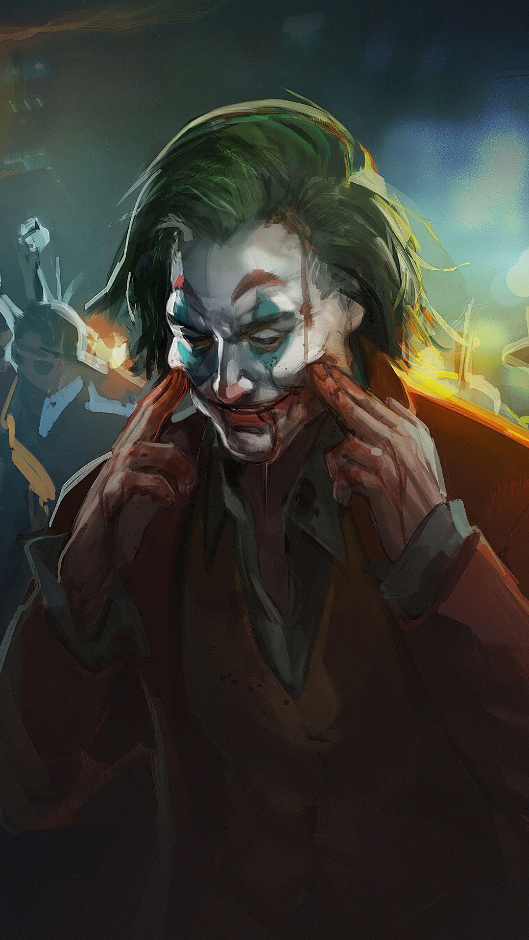 Joker Always Smile 4k Mobile Wallpaper (iPhone, Android