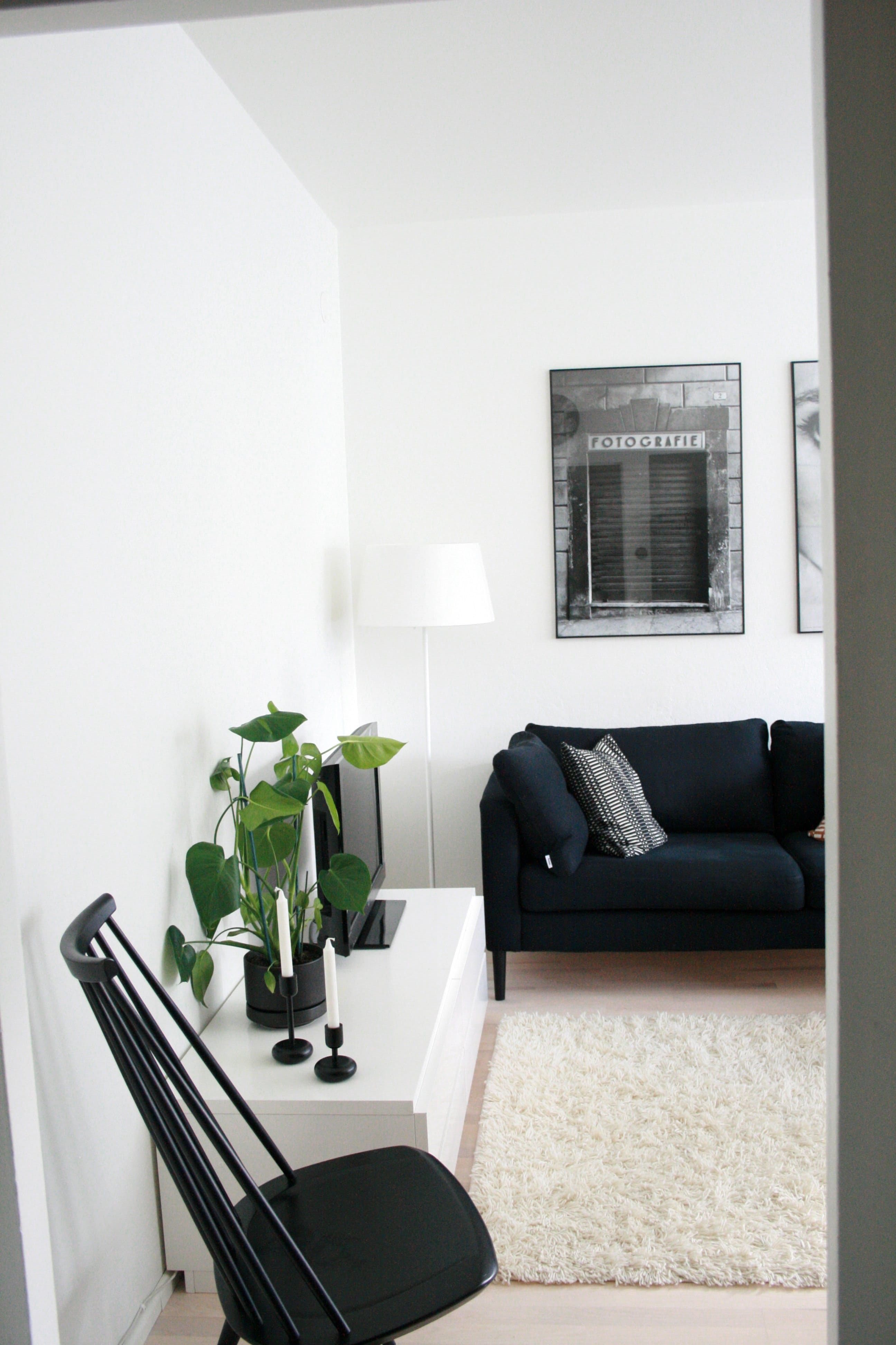 Kaisa Otto S Black And White Abode In Helsinki Minimalist Living Room Apartment Living Room Designs Furniture For Small Spaces
