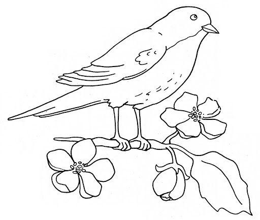 Imagenes De Dibujos De Pajaros Birds Embroidery Designs Bird Coloring Pages Bird Embroidery