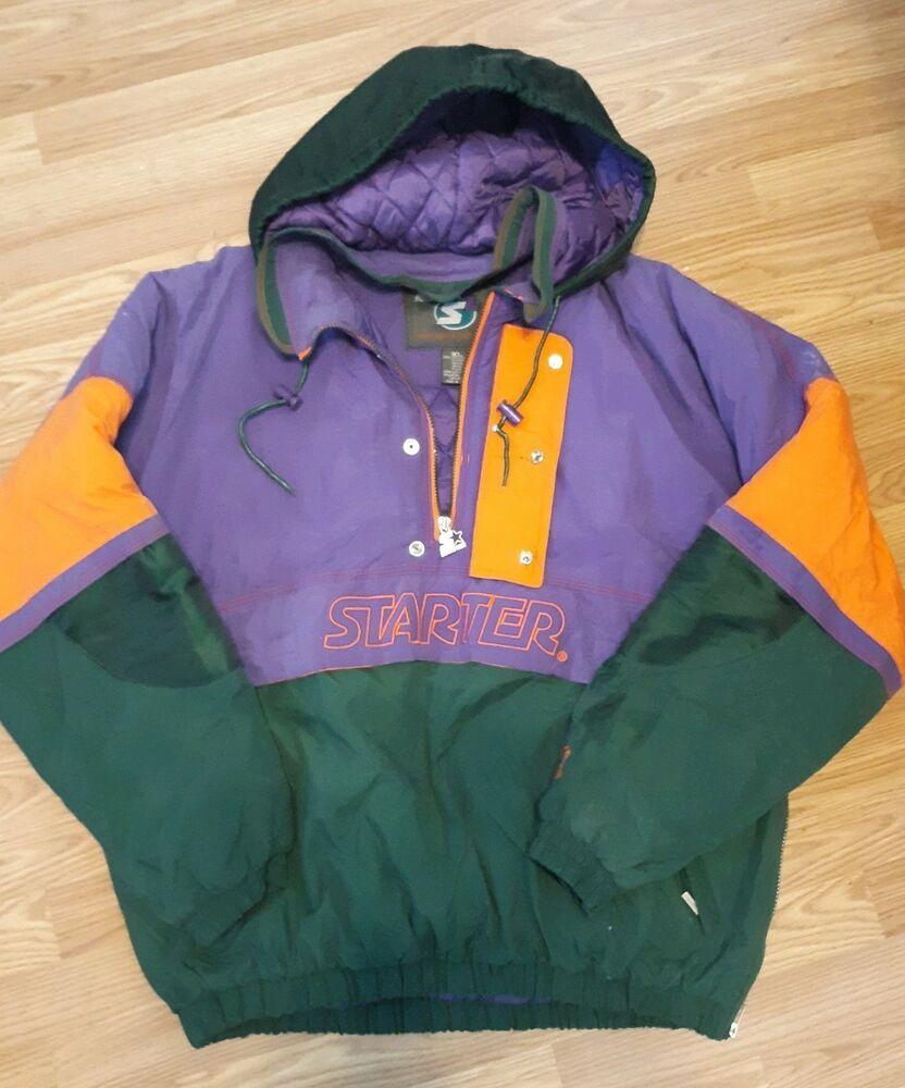 ef4ceee769e68d STARTER S2 Vintage Purple/Orange/Green Hooded Pullover Coat Size XL Nice  #Starter #Pullover