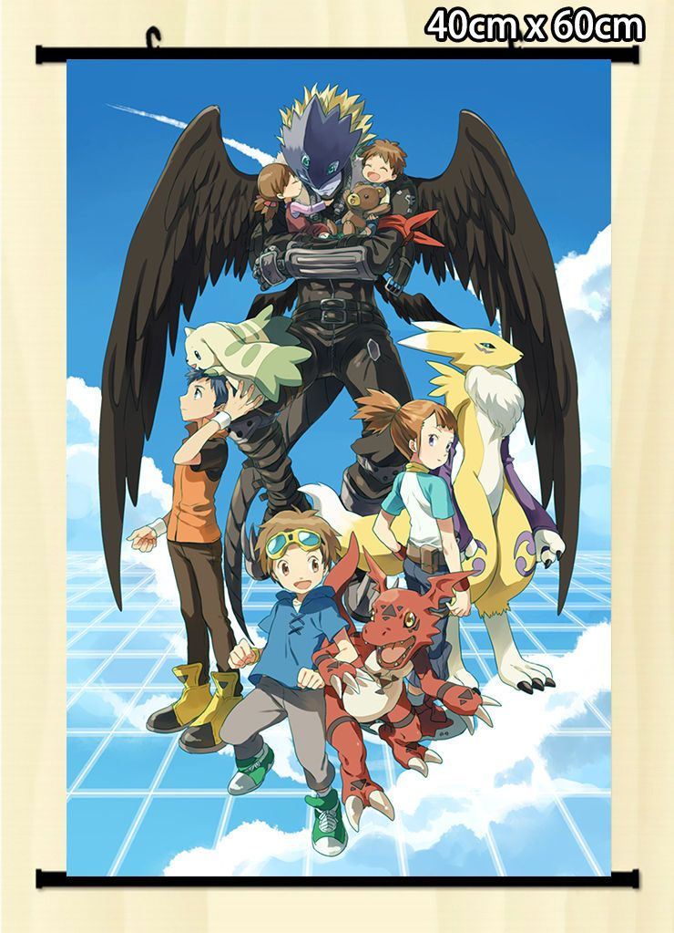 Anime wall scroll poster digimon adventure whole role home