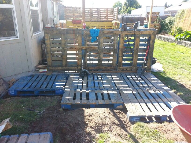 Leveling pallets is a lil more work that I thought