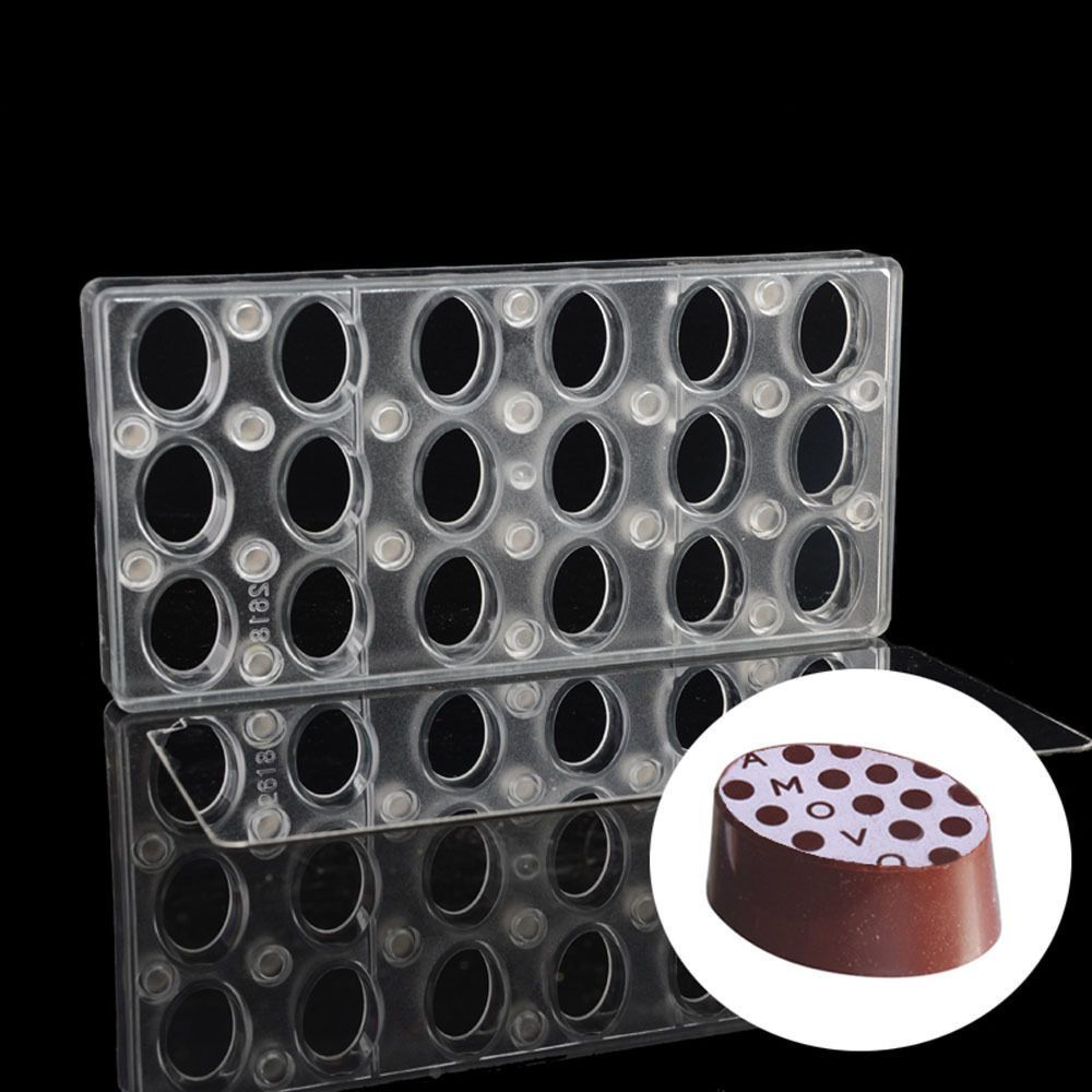 Oval DIY Chocolate Transfer Sheet Custom Molds Magnetic ...