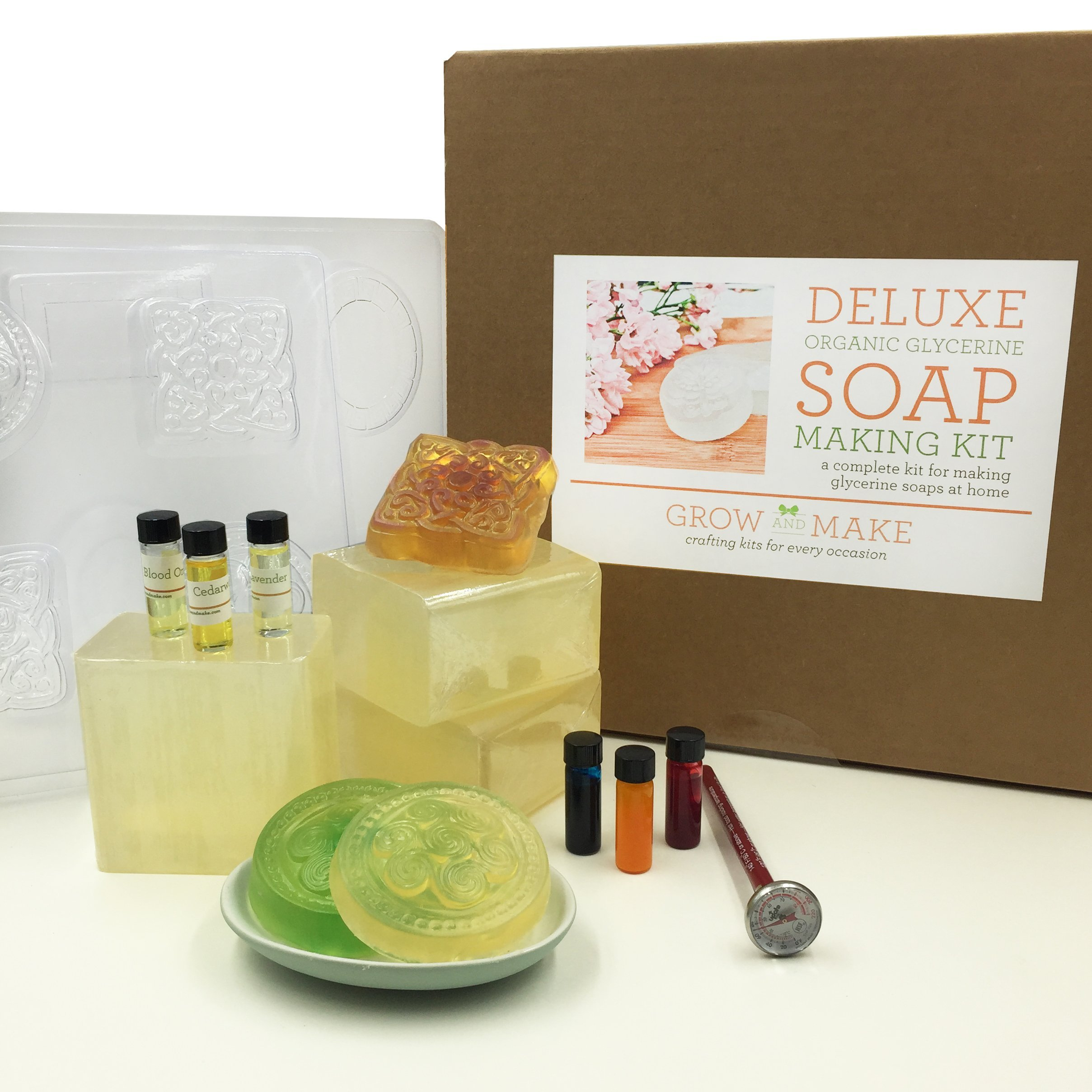 Deluxe Diy Organic Glycerine Soap Making Kit Learn How To Make Home Made Soap 20 50 Bath Body Beauty Modalyst W Soap Making Kits Soap Making Soap Kit